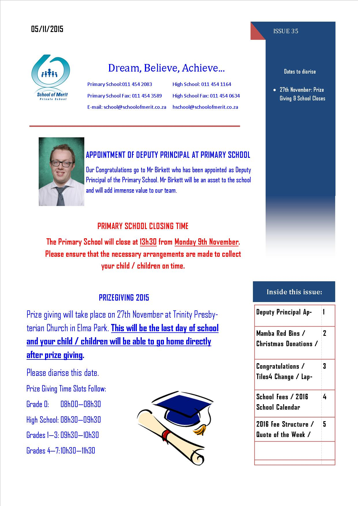 Newsletter 35 Page 1