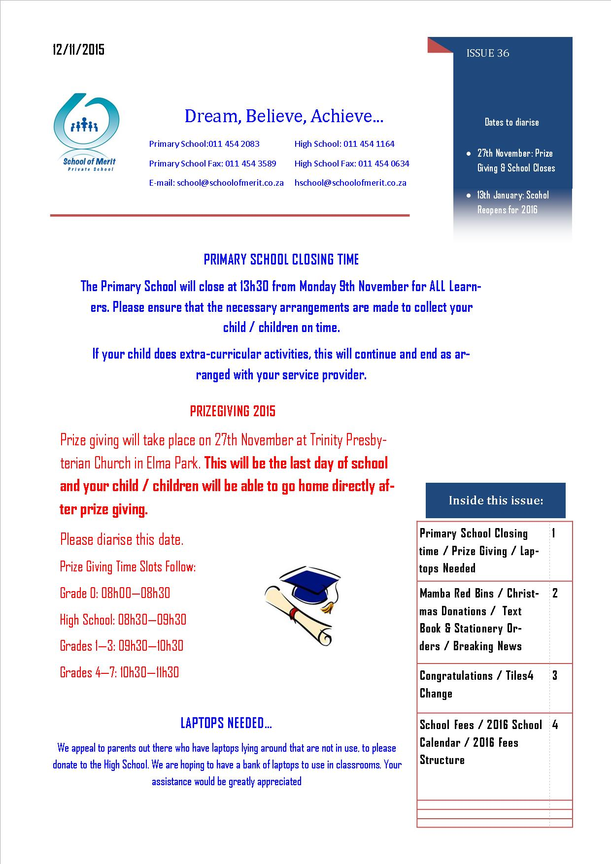 Newsletter 36 Page 1