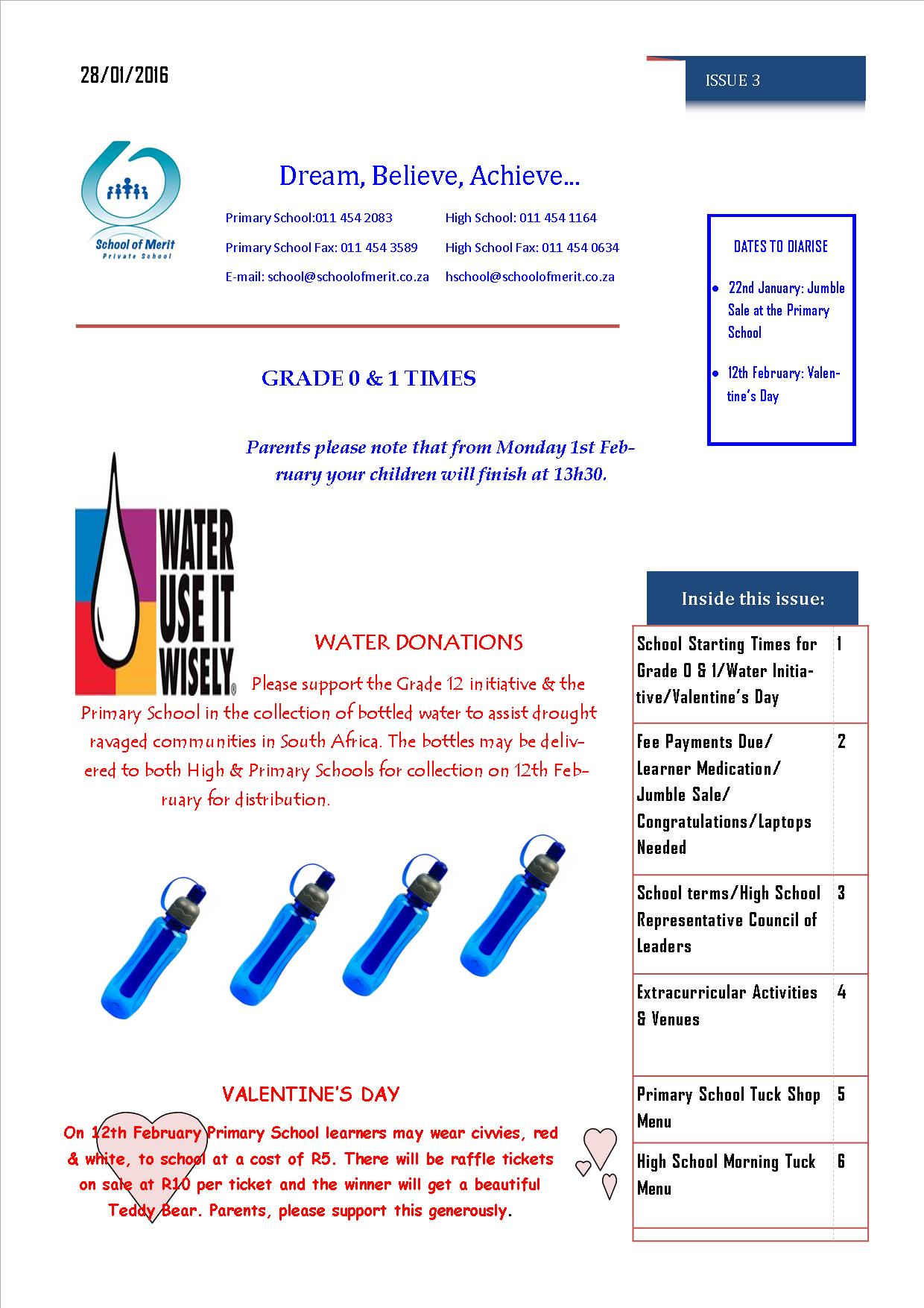 Newsletter 3 pg 1- 2016