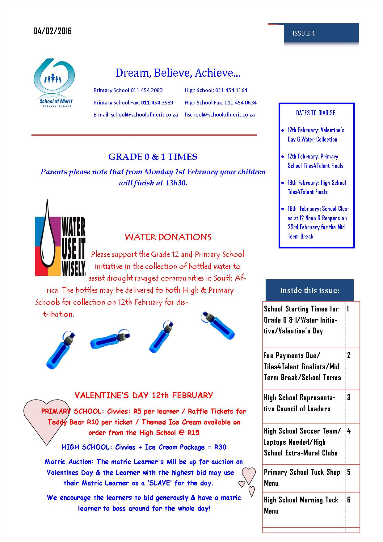 Newsletter 4 pg 1- 2016