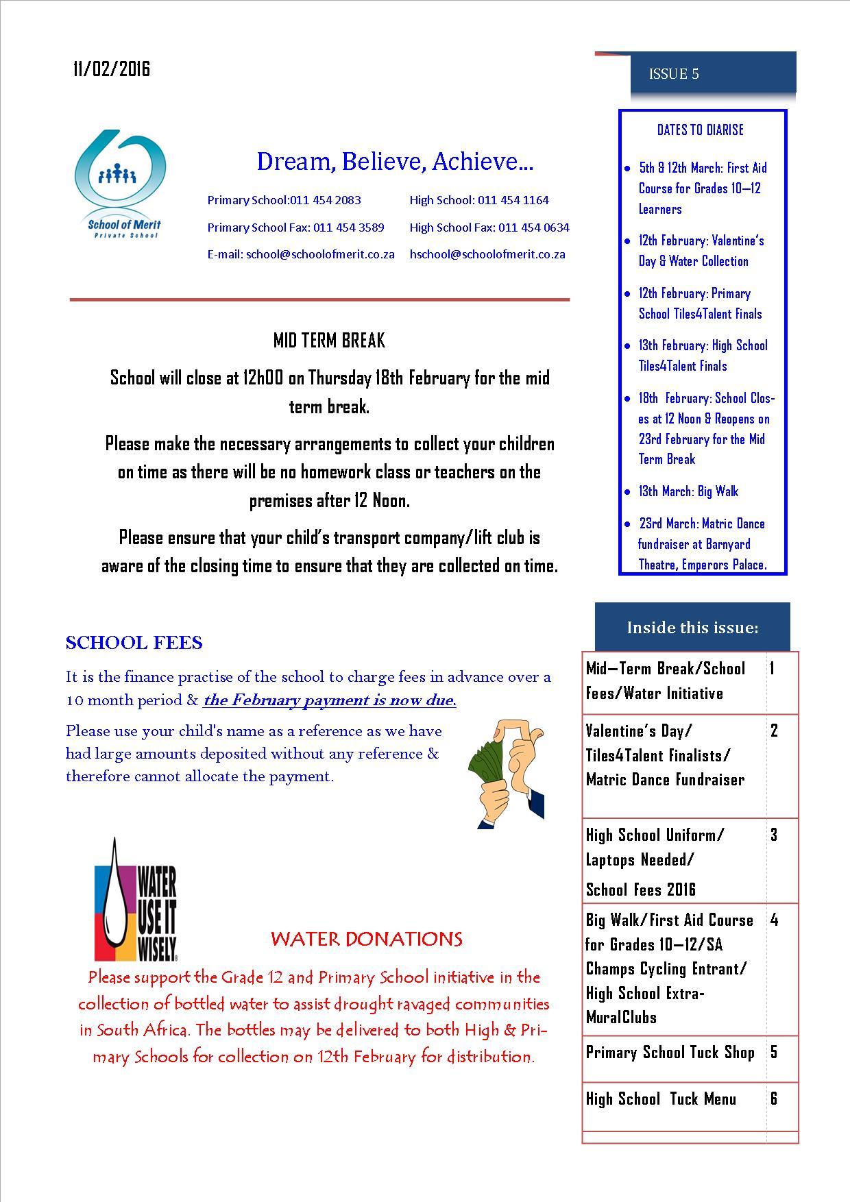 Newsletter 5 pg 1- 2016