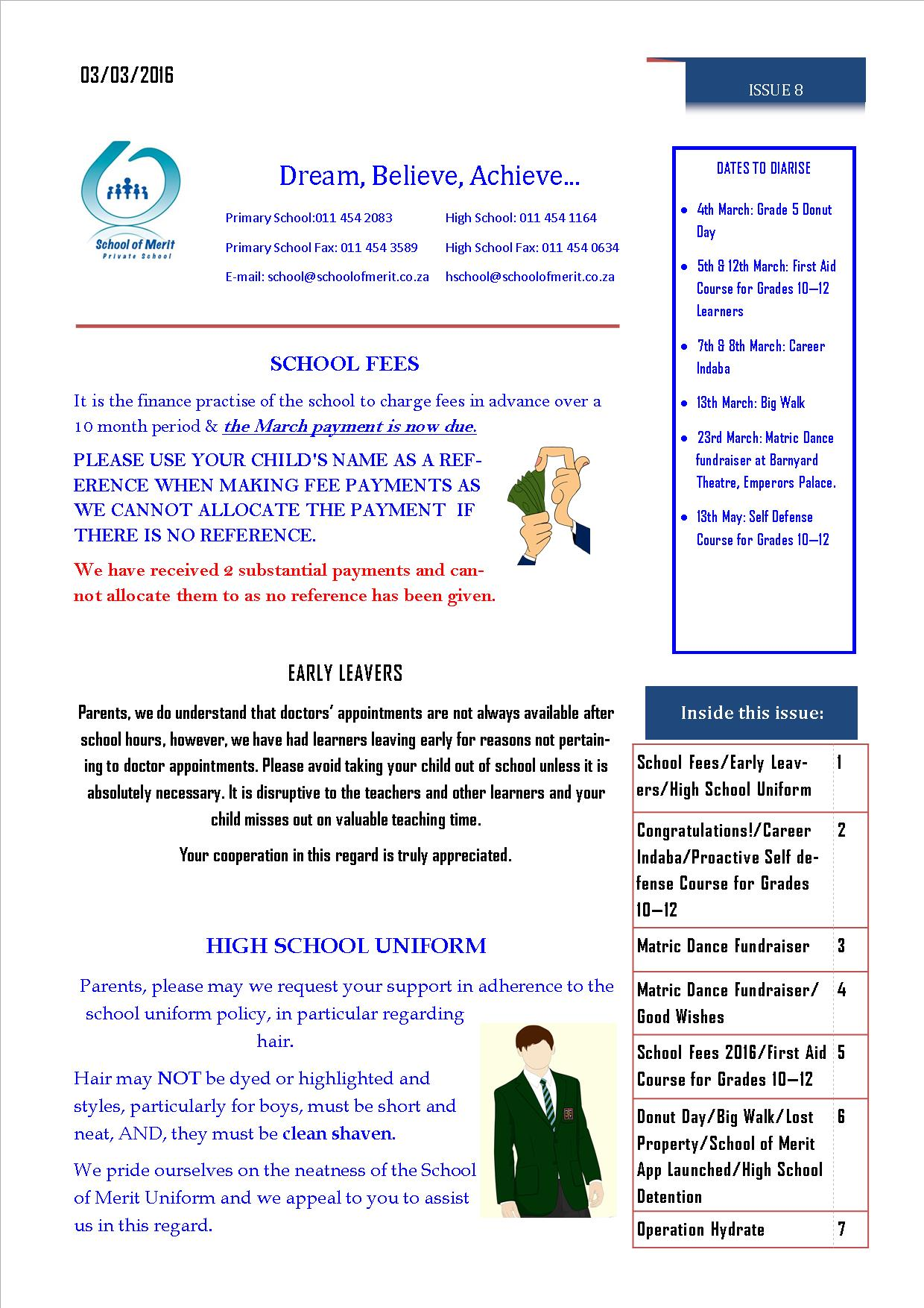Newsletter 8 pg 1- 2016