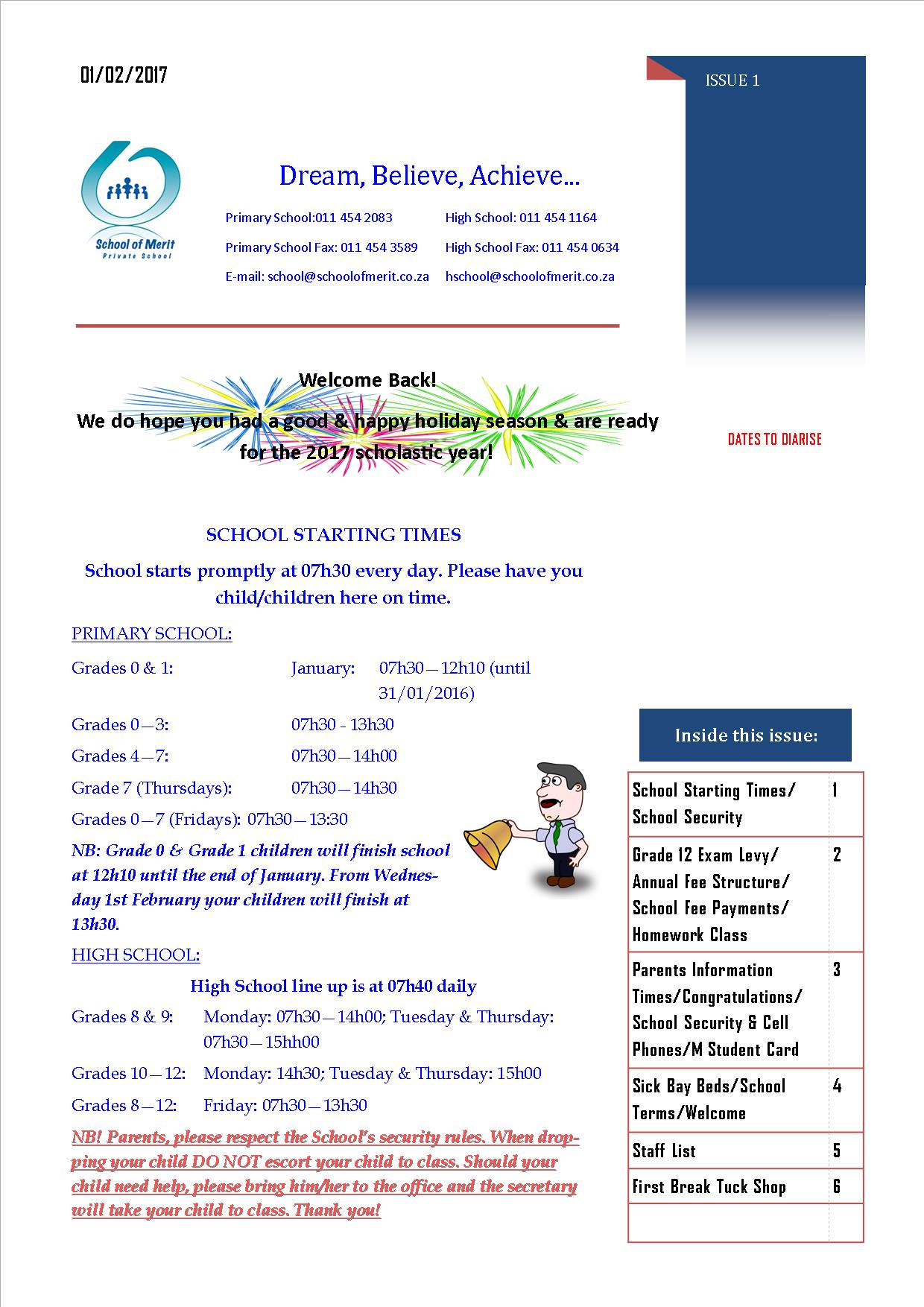 Newsletter pg 1 - 2017