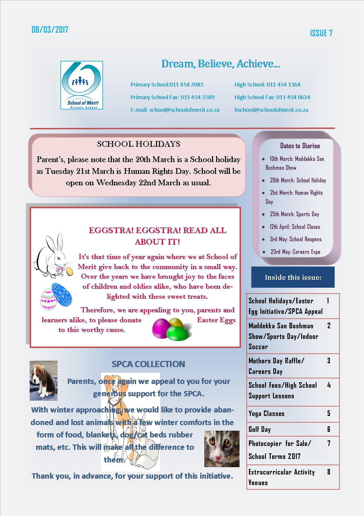 Newsletter 7 pg 1- 2017