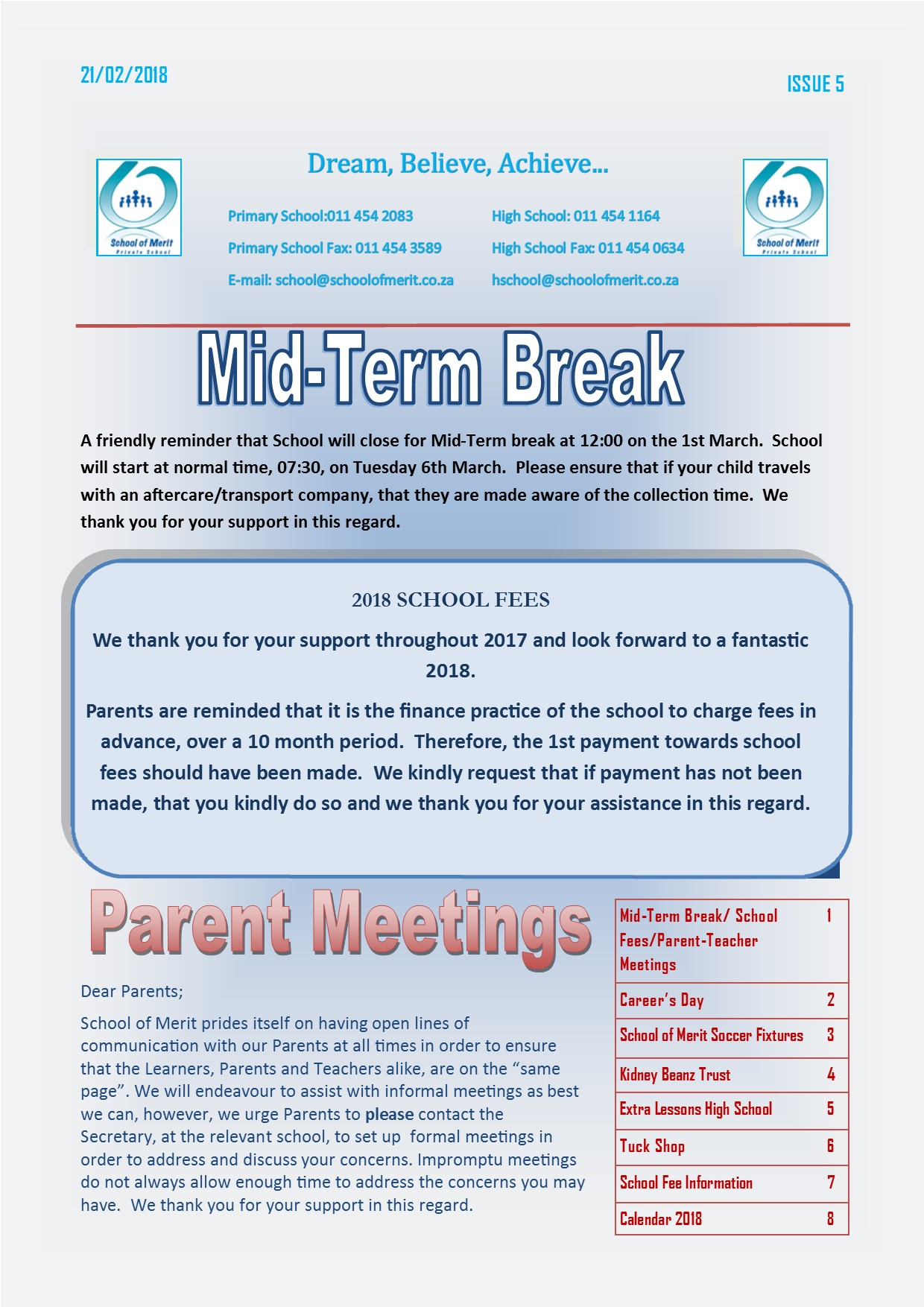 Newsletter 05 2018 page 1