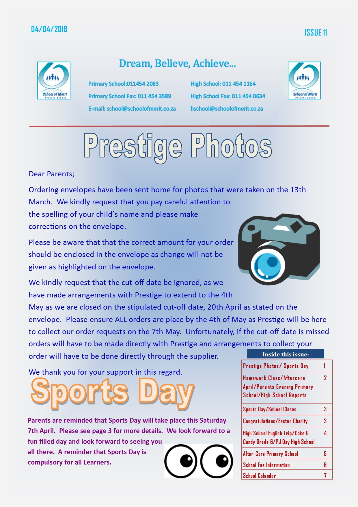 Newsletter 11 2018 page 1