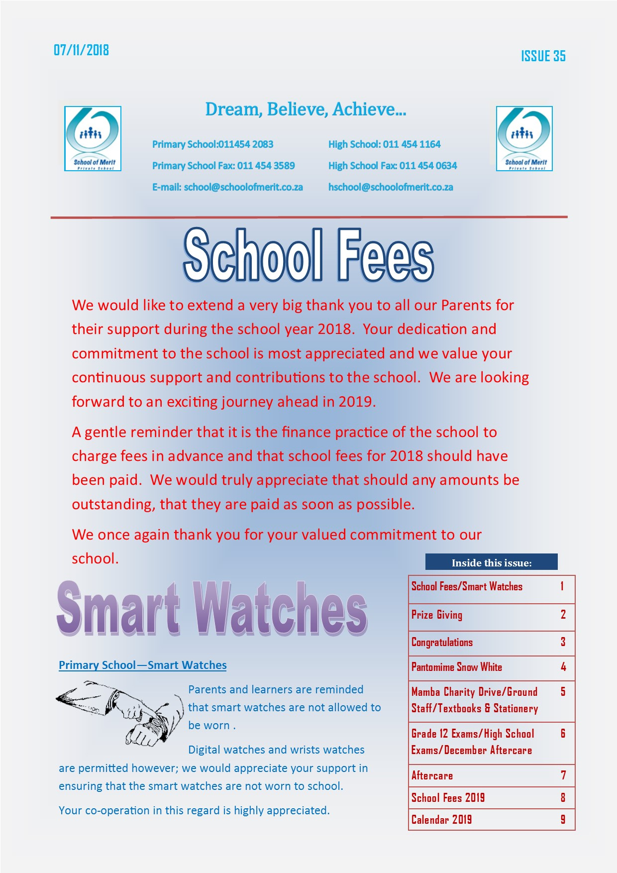 Newsletter 35 2018page1